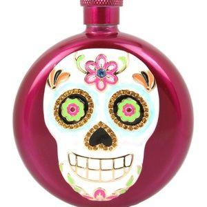 Betsey johnson accessories silvertone pink flower skull flask betsey johnson accessories betsey johnson silver tone pink flower skull flask mightylinksfo